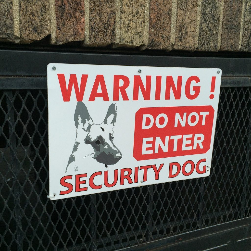 Guard dog sign https://securiteam.us