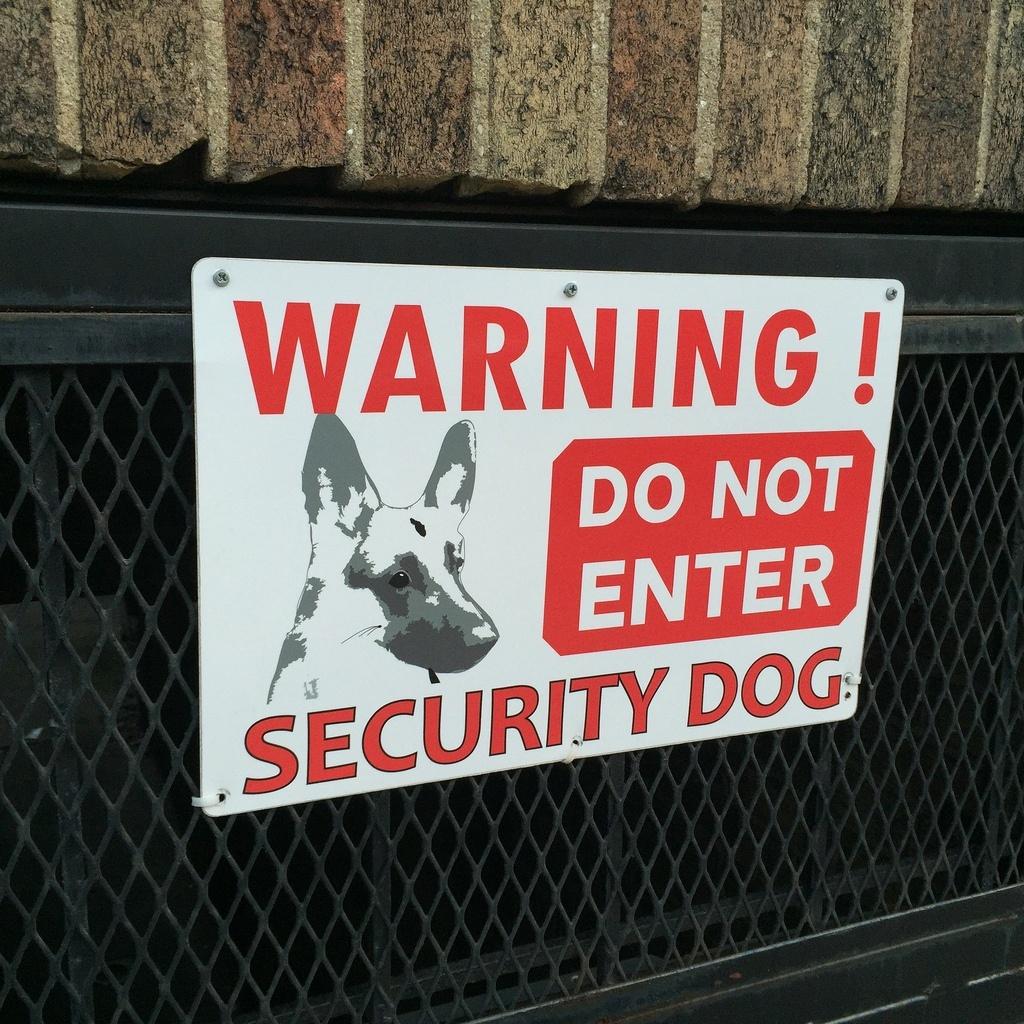 Guard dog sign https://securiteam.us