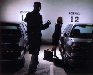 Dark parking lot, bad parking security